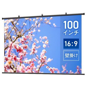 プロジェクタースクリーン タペストリー(掛け軸)スクリーン 100インチ(16:9) スタンダードマット BTP2220WSD|screen-theaterhouse