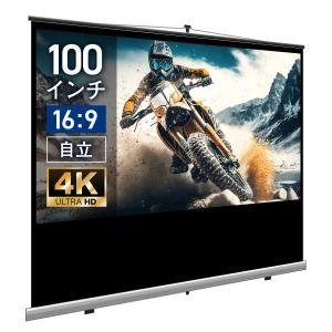プロジェクタースクリーン モバイル(自立)スクリーン 100インチ(16:9) ブラックマスク SST2214WEM screen-theaterhouse