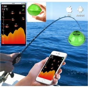 送料無料2018年6月4世代スマート魚群探知機ポケ探スマホ タブレット iphone とWIFI接続...
