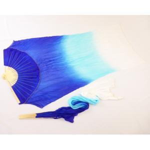 シルクファンベール (ブルー〜水色〜ホワイト)グラデーション|sdf