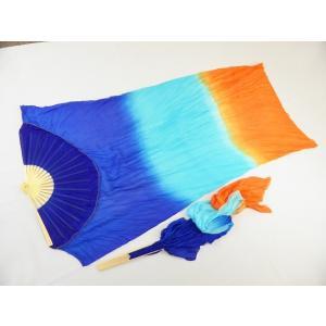 シルクファンベール (ブルー〜水色〜オレンジ)グラデーション|sdf