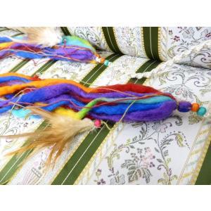トライバル装飾 毛糸・羽根(ワイヤーなし)|sdf