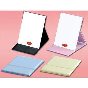【メール便・送料無料】スタンドミラー 卓上ミラー(卓上鏡) 化粧鏡 角型 ナピュアプロモデル折立ミラー  HP−40 (Mサイズ) 日本製 (堀内鏡工業)|sds-alpha