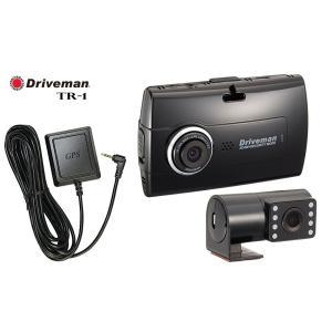 《送料無料》2カメラ同時録画 セカンドカメラセパレートタイプ GPS付属 ドライブマン ドライブレコーダー TR-1 (基本セットTW-1+GPSユニット同梱セット品)|sds