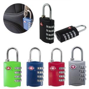 TSAロック 4桁 ダイヤル式ロック 南京錠 鍵 海外旅行 荷物スーツケース用 4ダイヤルロック