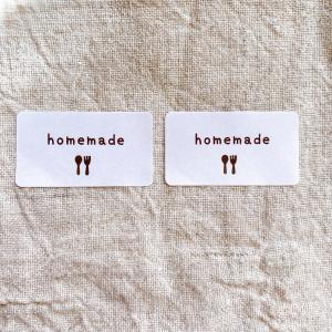 homemadeシール ホームメイドシール 茶 65枚 NO.27 手作りのラッピングに|se-label