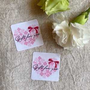 ハートのGift for youシール  リボン 40枚*NO.413|se-label