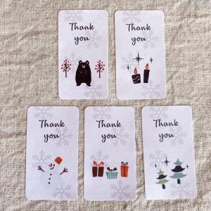 冬の サンキューシール  Thank youシール  5種 65枚 NO.519 se-label