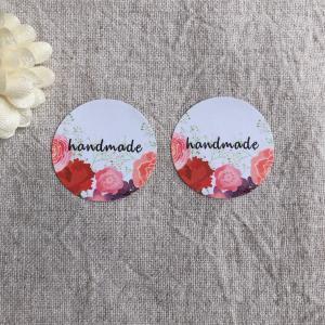お花のhandmadeシール*ラッピングに ギフトに 48枚 NO.449|se-label