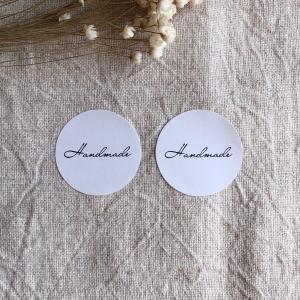 筆記体 Handmadeシール  シンプル ギフト ラッピングに48枚 NO.450|se-label