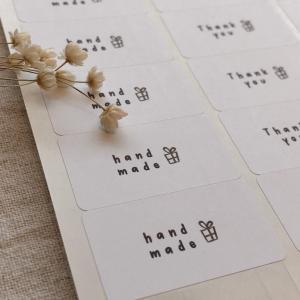 シンプルがかわいい handmadeシール ハンドメイドシール 65枚 NO.457|se-label