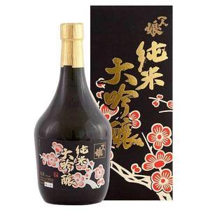 送料無料 日本酒 一人娘 純米大吟醸 黒(瓶) 720ml x 10本(ケース販売)(山中酒造/茨城県) se-sake