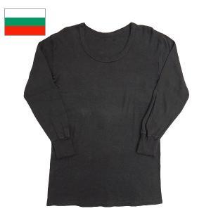 ブルガリア軍UネックTシャツ 黒染め|seabees