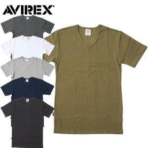 1点ならメール便送料無料 AVIREX #6143501 デイリーシリーズ VネックTシャツ メンズ 6色 XS-XL seabees