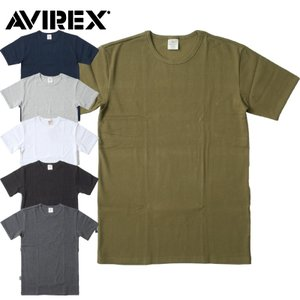 1点ならメール便送料無料 AVIREX #6143502 デイリーシリーズ クルーネック Tシャツ メンズ 6色 XS-XL seabees