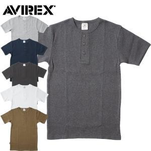 1点ならメール便送料無料 AVIREX #6143504 デイリーシリーズ ヘンリーネックTシャツ メンズ 6色 S-XL seabees