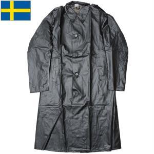 セール中 スウェーデン軍 ラバーヘビーレインコート  デッドストック ミリタリーレインコート seabees
