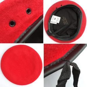 メール便OK YMCLKYオリジナル フランス軍タイプ ベレー帽  ライトグリーン オリーブ レッド ブラック|seabees|04