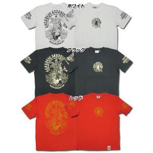 爆裂爛漫娘[B-R-M]RMT-184 半袖Tシャツ 『魚藍観音』 ホワイト ブラック レッド【TKA】 seabees