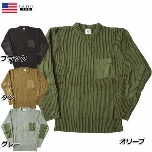 米軍タイプ コマンドセーター ポケット付き アクリル 新品 ブラック タン オリーブ グレー seabees