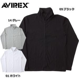 AVIREX アビレックス #6153642 デイリー ロングスリーブ スタンド ジップジャケット <br>メンズ 3色 S-XL フルジップ スウェット 長袖 無地 羽織 seabees