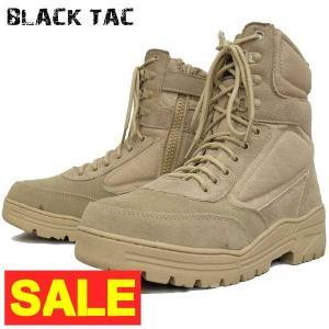 BLACK TAC SWAT10 タクティカルブーツ サイドジッパー デザート【TKA】