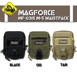 MAGFORCE MF-0315 M-5 waist pack ブラック OD タン|seabees