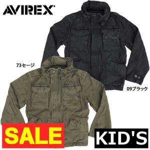 AVIREX キッズ #6322004 M-65 モディファイド ジャケット 09ブラック 73セージ 返品・交換不可【TKA】|seabees