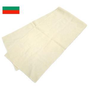 メール便OK ブルガリア軍  ウールスカーフ ホワイト デッ...