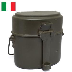 セール中 イタリア軍 アルミ飯盒 オリーブ デッドストック...