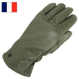 セール中 フランス軍 レザーグローブ グリーン デッドストック|seabees