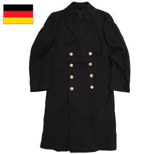 セール中 ドイツ軍 ロング ピーコート ネイビー USED seabees