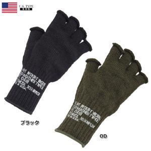 セール中 YMCLKYオリジナル 米軍 タイプ ウール フィンガレス手袋 ブラック OD|seabees