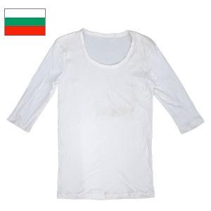 ブルガリア軍 Uネックアンダーシャツ 七分袖 ホワイト|seabees