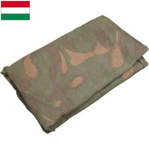 ハンガリー軍 テントシート カモ USED|seabees