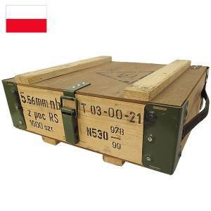 ポーランド軍 アンモボックス ウッド メタルフレーム