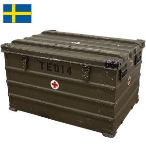 スウェーデン軍 A20 アルミボックス 『ZARGES』 オールドタイプ (大型)|seabees