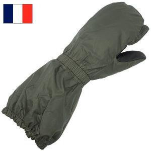 セール中 フランス軍 ナイロン レザー ミトングローブ オリーブ|seabees
