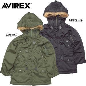 AVIREX KIDS #6342005 N-3Bフライトジャケット LOGO 09ブラック 73セージ 日本正規販売店 AVIREX/アビレックス/avirex 返品・交換不可【TKA】|seabees