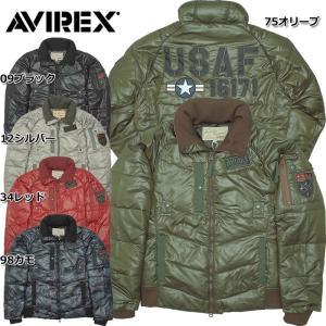 AVIREX #6152169 USAF ポリプロピレン パディングジャケット 09ブラック 12シルバー 34レッド 75オリーブ 98カモ|seabees