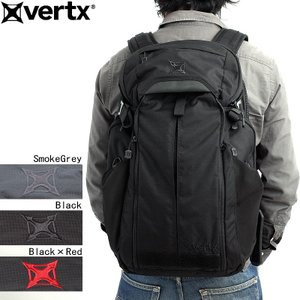 "VERTX バーテックス #VTX5015 多用途バックパック『EDC Gamut""ギャマット""』 ブラック ブラック×レッド スモークグレー 日本正規販売店|seabees"