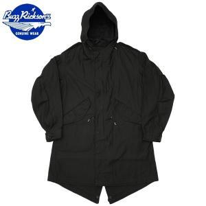 セール中 BUZZ RICKSON'S #BR13316 ウィリアム・ギブソン コレクション M-51 パーカー ジャケット スレンダー 01ブラック WILLIAM GIBSON COLLECTION SLENDER|seabees