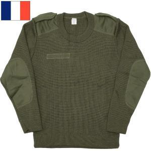 フランス軍 コマンドセーター オリーブ デッドストック seabees