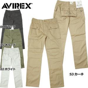 AVIREX #6166112 エアロ カーゴパンツ 02ホワイト 08ブラック 53カーキ 75オリーブ 【送料無料・北海道・沖縄・離島は別途送料追加】  日本正規販売店 AVIREX|seabees