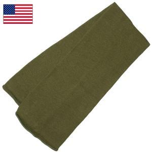 セール中 米軍 ウールスカーフ オリーブ USED seabees