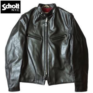 Schott #7417 641XXH ホースハイド カフェレーサー ライダース ジャケット 【日本正規販売店】ショット seabees
