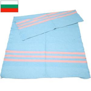 ブルガリア軍 ブランケット ブルー×ピンクライン デッドストック|seabees