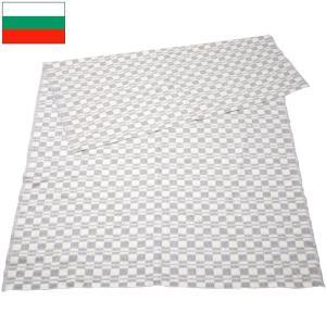 ブルガリア軍 ブランケット ホワイト×グレーチェック デッドストック|seabees