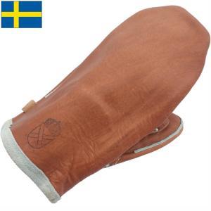 セール中 スウェーデン軍 ワークレザーミトングローブ ブラウン USED|seabees