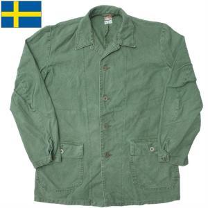 セール中 スウェーデン軍 ワークジャケット オリーブ USED seabees